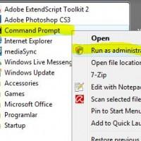 Windows Vista\'da Yönetici Olarak Komut İstemi Açmak