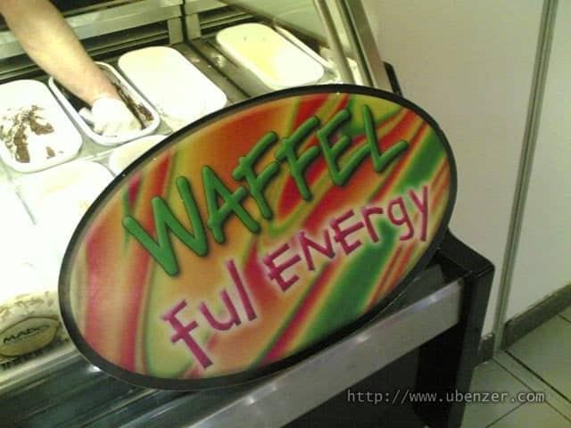 Waffel değil o Waffle