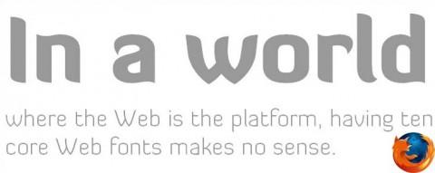 @font-face ile gömülen OTF uzantılı bir yazı tipinin Firefox'ta görünümü.