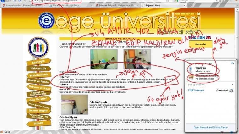 yalanci ege universitesi ogrenci koyu