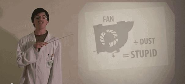 clean the fan