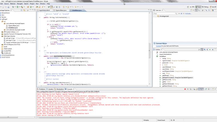 Java sstProje2srccomubenzersstproje2beansSirketBeanjava Eclipse