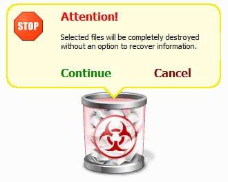 freeraser delete confirm