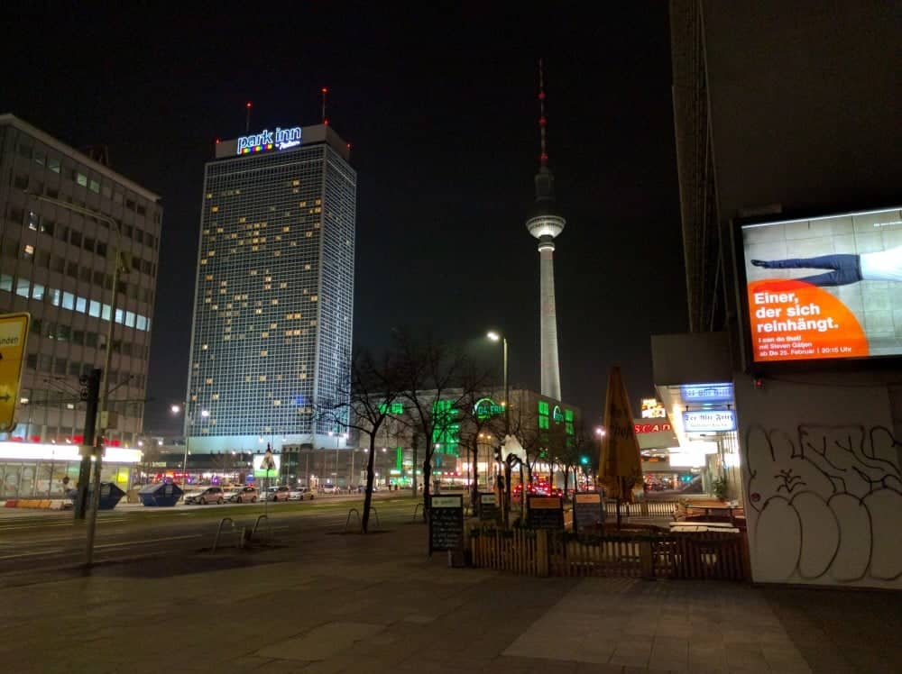 Berlin Alexanderplatz Night