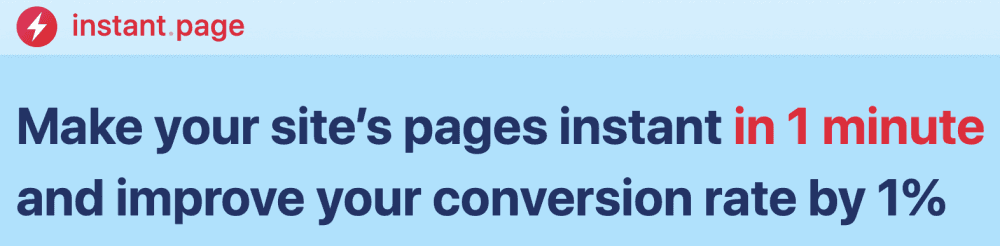 instant page